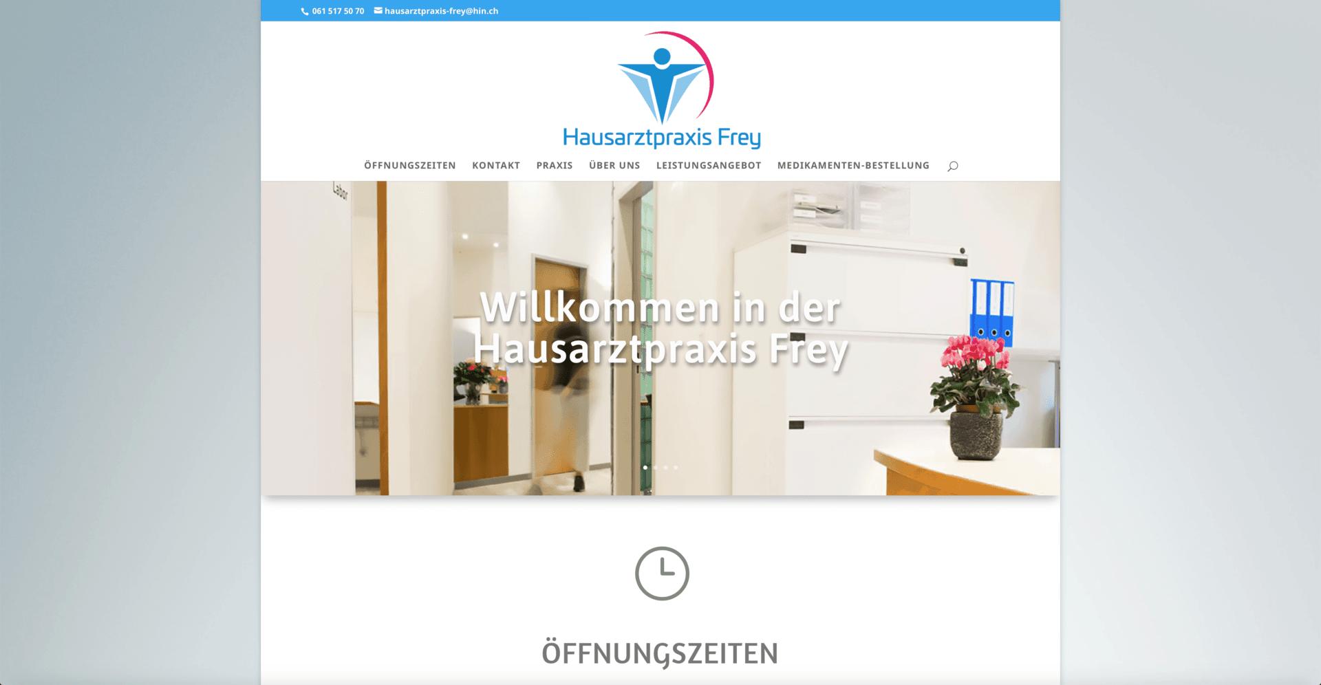 Hausarztpraxis Frey Webdesign