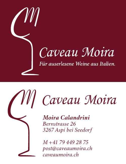 Redesign Visitenkarte Caveau Moira